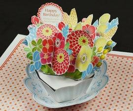 Pop Up Flower Birthday Card