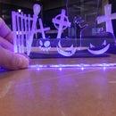 Laser Cut Edge Lit Halloween Display - I made it at TechShop!
