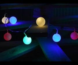 Christmas Snowball lights