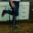 Peg Leg from Old Crutches