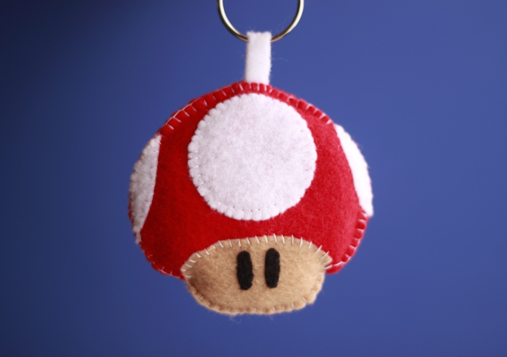 Picture of How to Make a Mario Mushroom Keychain