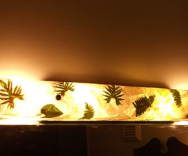 Refurbish a Vanity Bathroom Light With Coffee Filters, Leaves and Ferns!