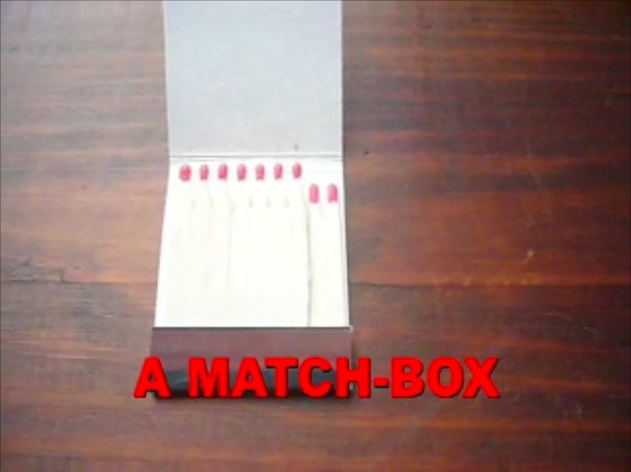 Picture of  LED FLASHLIGHT MADE OF a MATCH-BOX