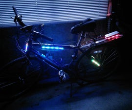 Multi-coloured Bicycle Frame Lights