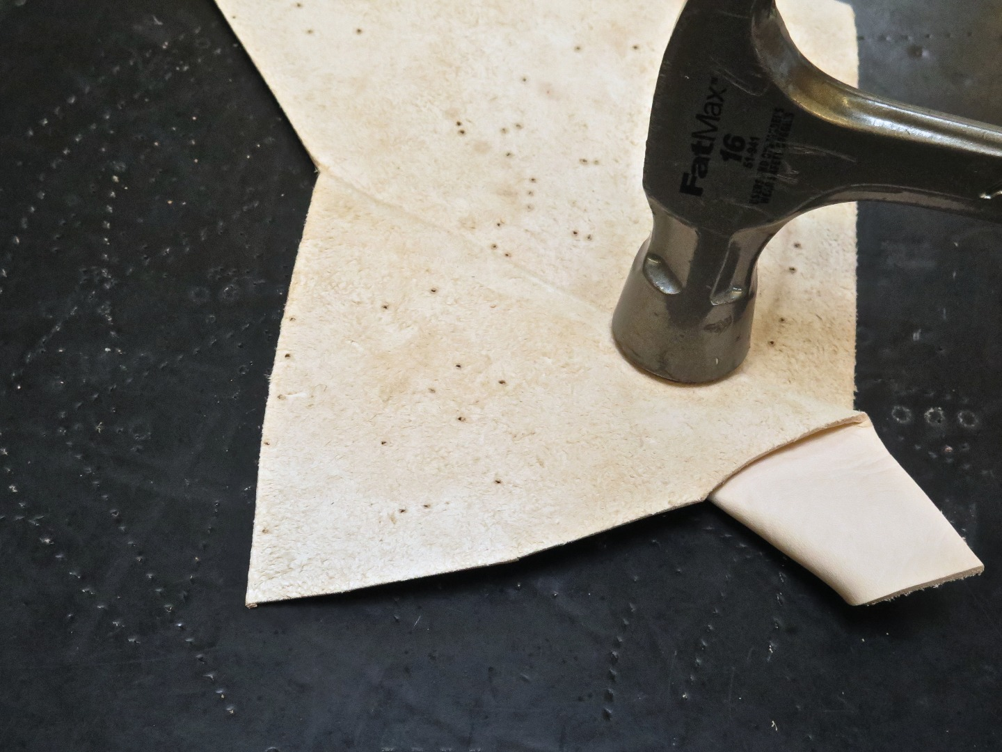 Picture of Punching Sewing Holes