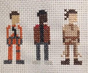 Star Wars Cross Stitch: Force Awakens Trio