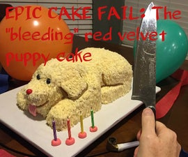 Bleeding Puppy Cake Fail