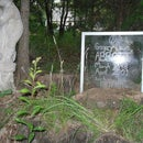 Etched glass headstone