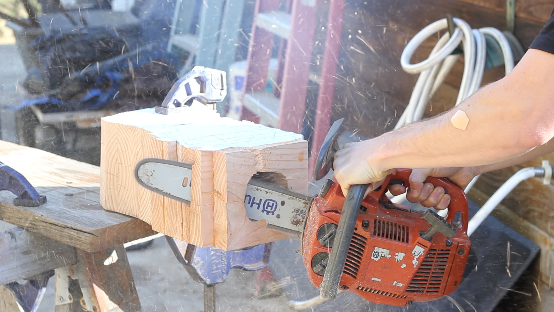 Picture of Chainsawing / Rough Shaping Rd. 1