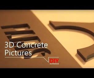 3D Concrete Pictures - Inspiration!