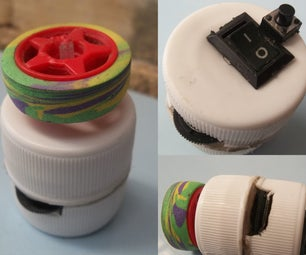Fidget Toys From Trash.  Analog, Roller, and a Switch!