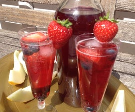 Summer fruit iced tea
