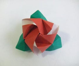 Origami Cube Rose