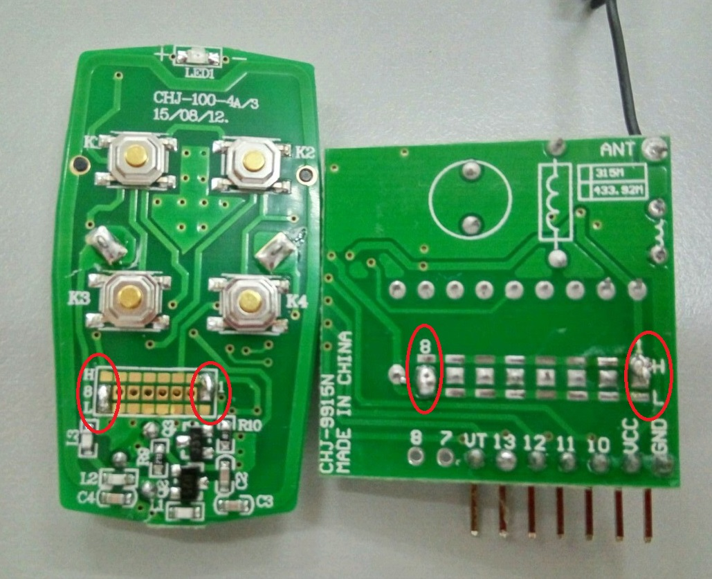 Picture of Solder the ID of RF Remote Control Kit