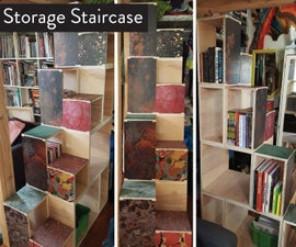 Storage Staircase for Loft Bed