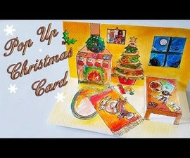DIY Pop Up Christmas Card With Watercolors