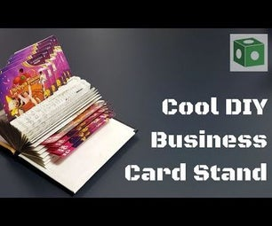 CooL DIY Business Card Stand