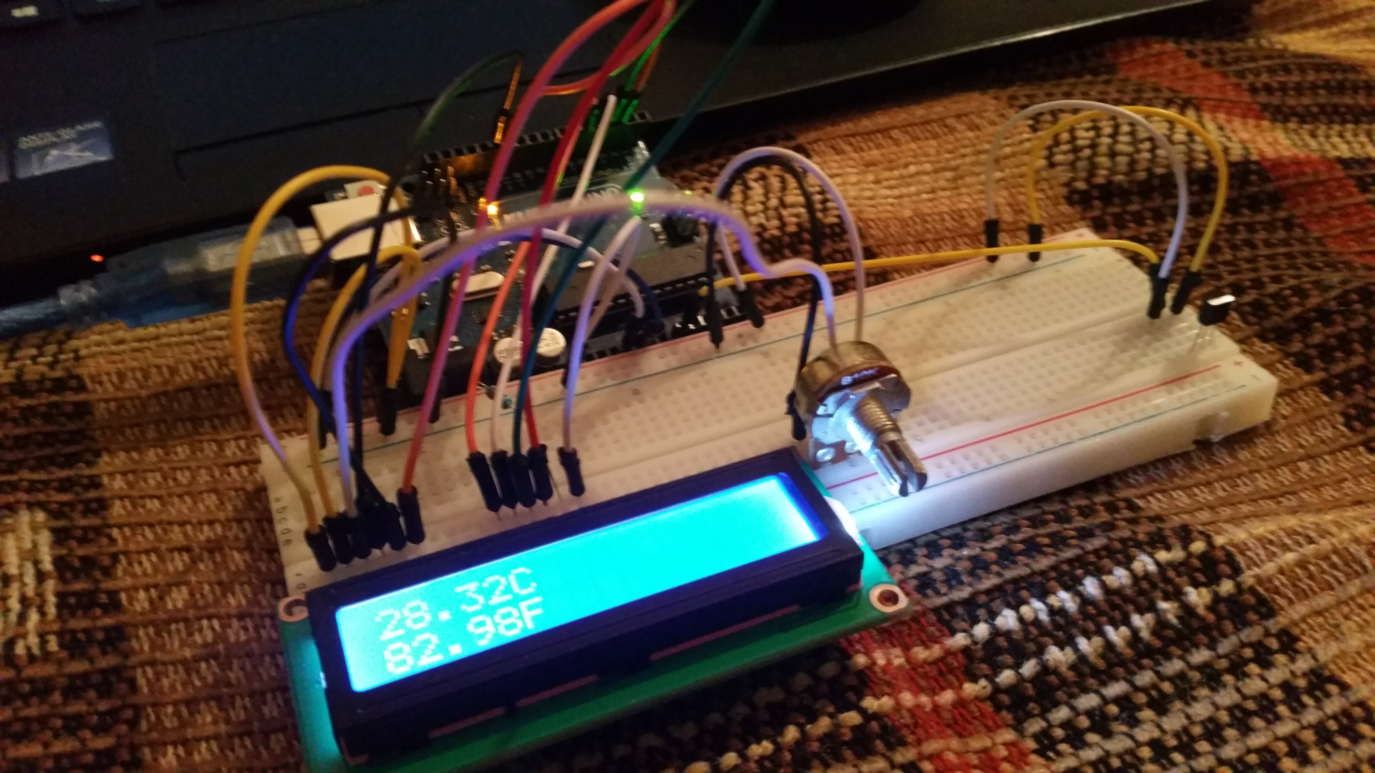 Picture of Arduino Thermometer (LM35 + LCD)