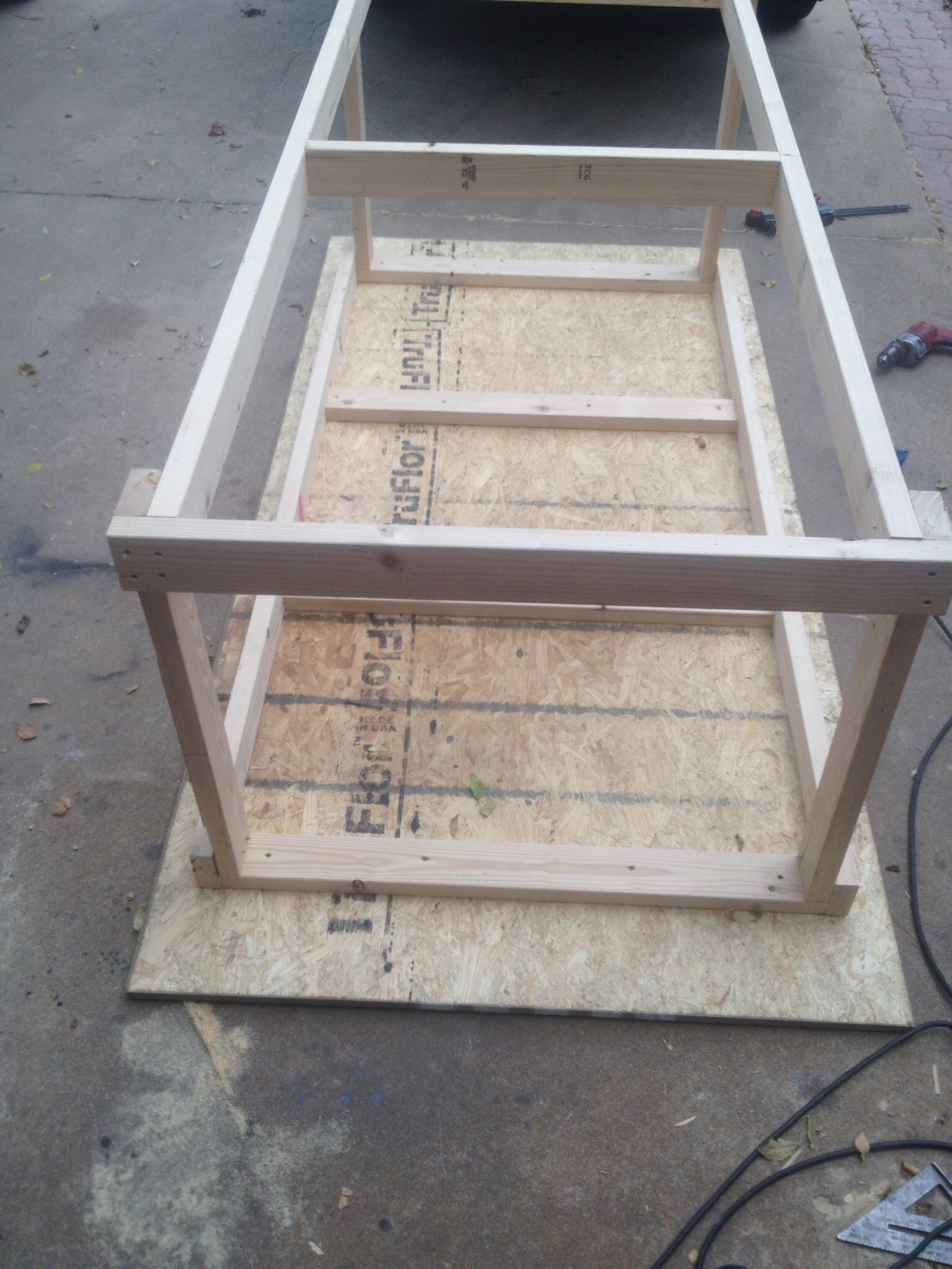 Picture of Frame Assembly (4/4) - Cross Beam Support (Bottom Deck)