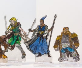 Shrinky Dink D&D Miniatures