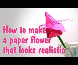 How to Make a Paper Flower(Origami Tulip)