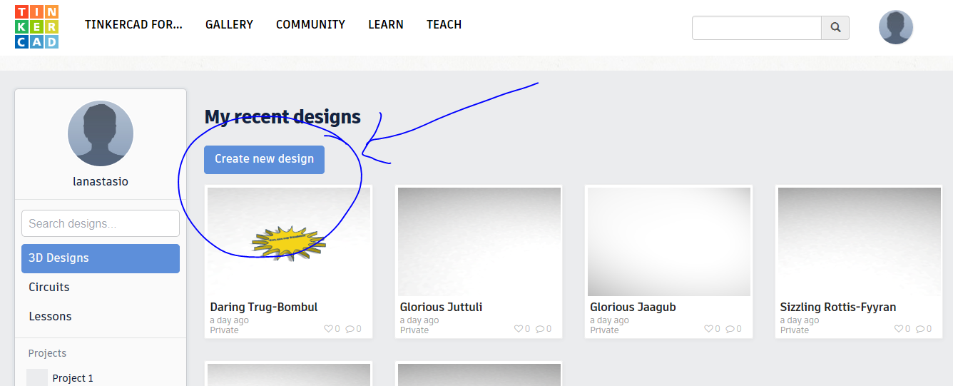 Picture of Step 3: Creating a New Design