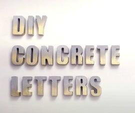 DIY Easy Concrete Letters