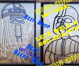 R2D2 Welded Rod Sculpture