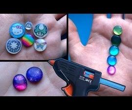 DIY Faux Resin Charms/Gems Using Hot Glue