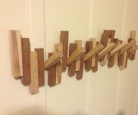 From Scraps to Racks!  How to turn seemingly useless scrap into a wall rack