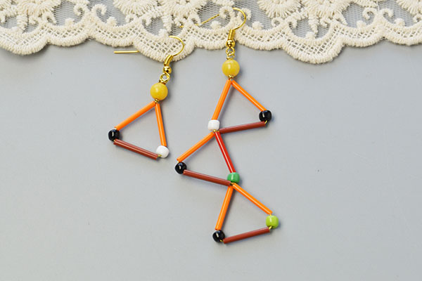 Picture of Now, This Bugle Beads Dangle Earrings Have Been Finished: