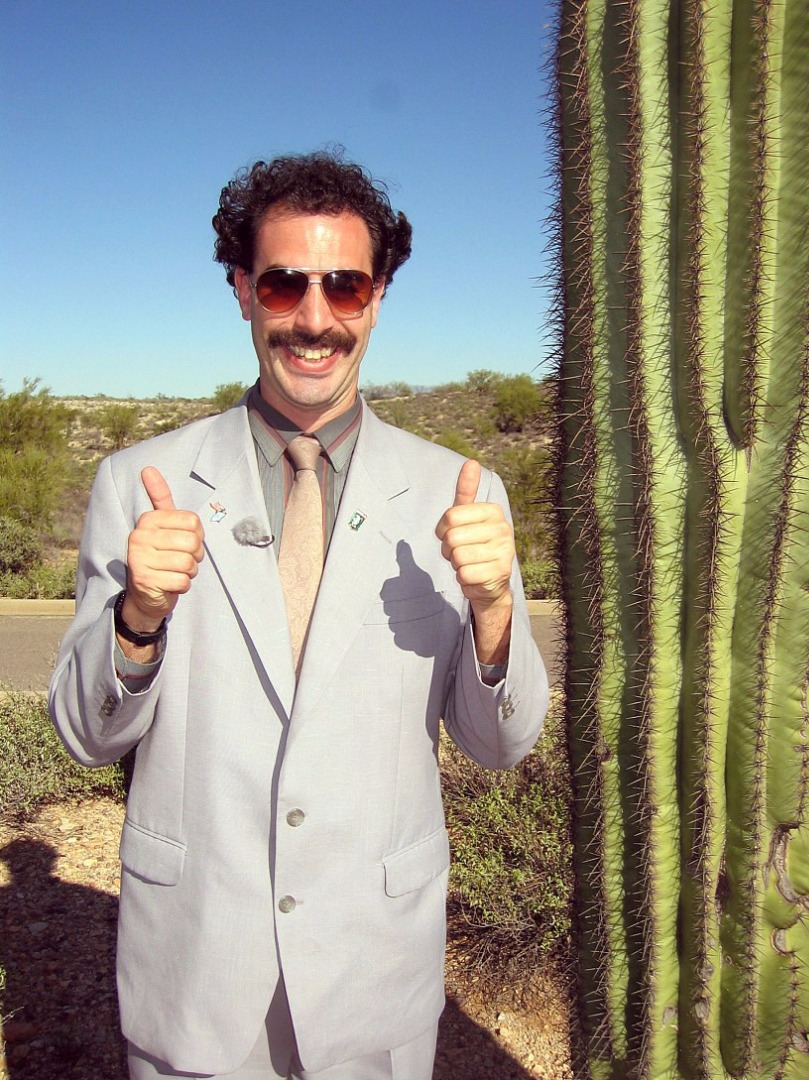 Picture of Borat Says: You Made Great Wagon for Stinky Gipsy's. You Will Fit Right in Toilet! I Mean ''tiny House''