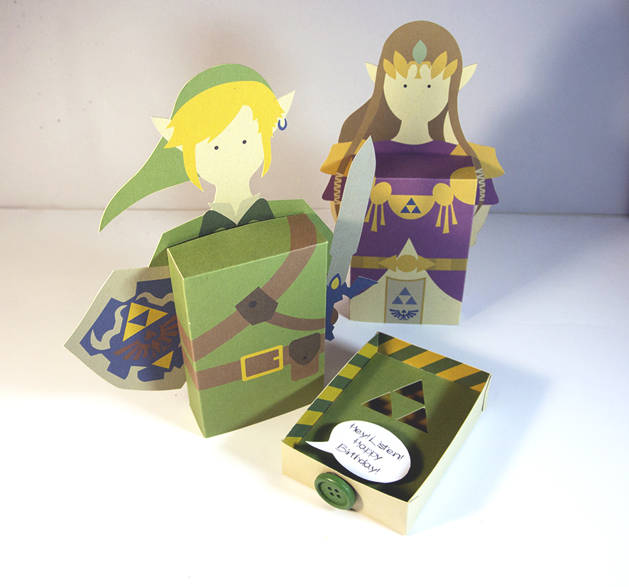 Picture of 3D Zelda Greeting Card