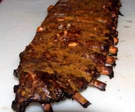 Smoked Thai Spare Ribs with Bourbon-Peanut Butter Glaze