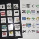 Customizable reusable dry erase road tip bingo
