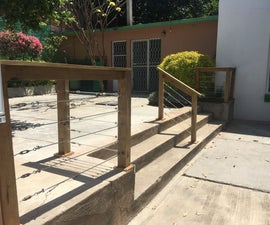 Easy Handrail With Steel Cable