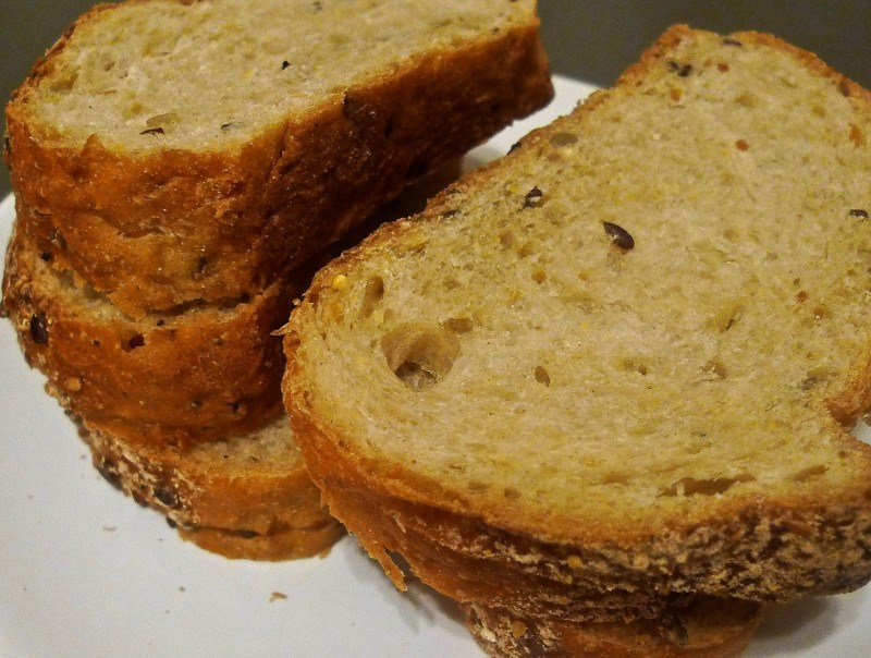 Picture of To Make French Toast, First Cut the French Bread Into 6 Thick Slices.
