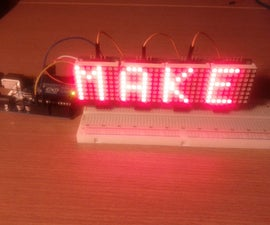 Multiple LED Matrices with Arduino