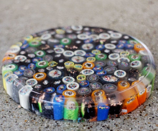 Sliced Cable Resin Coasters