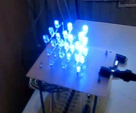 3x3x3 LED Cube with optional pc-control