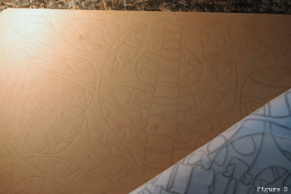 Picture of Cutting the Design Into Leather