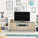 TV Unit With Wood Slice Veneer