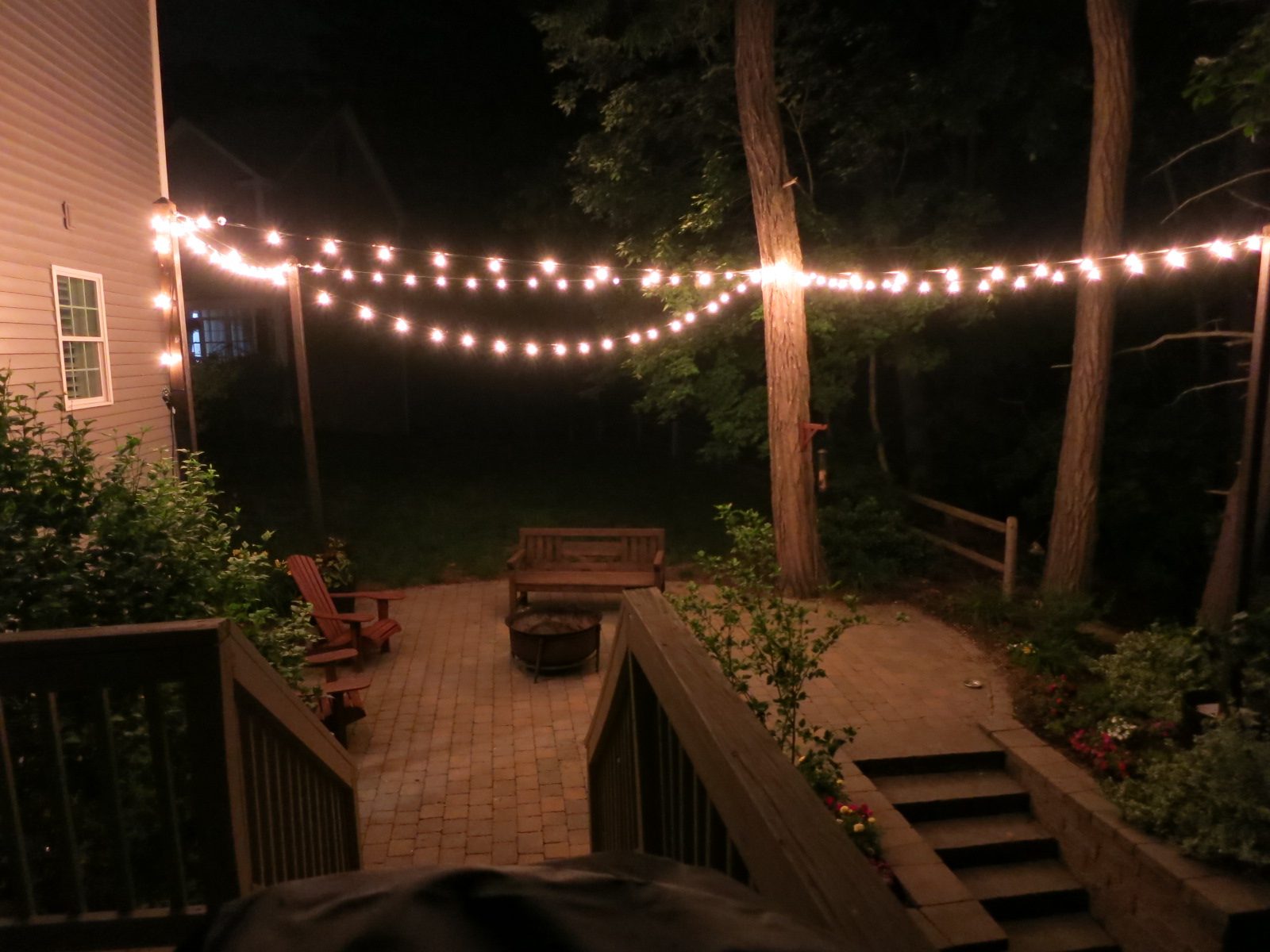 Picture of Patio Lighting With Planters