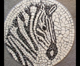 Use Field Tiles To Make A Zebra Mosaic Table