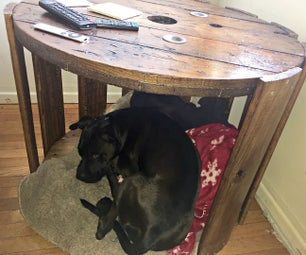 Turn a Cable Spool Into a Side Table / Dog&Cat Bed
