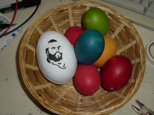 Picture of The A-Team Egg - an Easter Egg Playing the A-Team Title Melody If You Shake It!