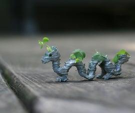3d Printed Dragon Planter Using Tinkercad