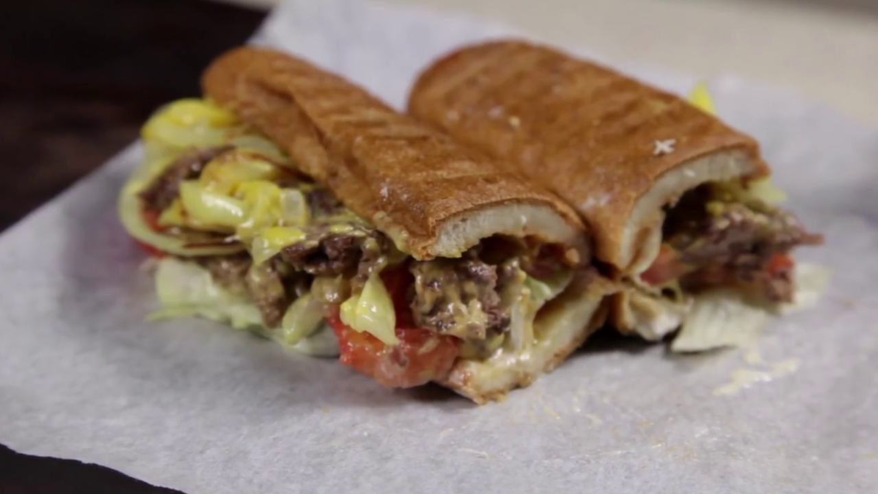 Picture of There You Have It! a Chopped Cheese Sandwich!