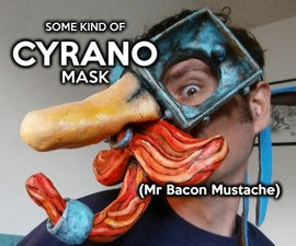 Cyrano Mask (Mr Bacon Mustache)