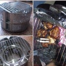 BBQ grill made from a washing machine drum